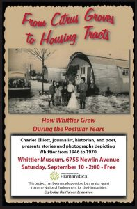 Whittier History 9 7 16museum flyers